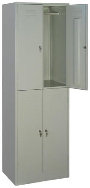 Шкаф металлический для одежды ШРМ - 24 купить на выгодных условиях в Москве