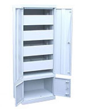 Шкаф металлический картотечный ШК-4-Д4 купить на выгодных условиях в Москве