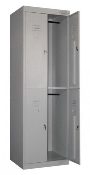 Шкаф металлический для одежды ШРK-24-800 купить на выгодных условиях в Москве