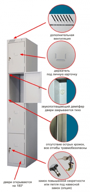 Шкаф металлический для сумок ШРС-14-300 купить на выгодных условиях в Москве